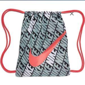 Nike- Adult Drawstring Backpack- All over logo